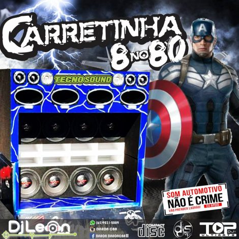 CD CARRETINHA 8 NO 80 ESP.SERTANEJO- Dj Leon Cba-MT