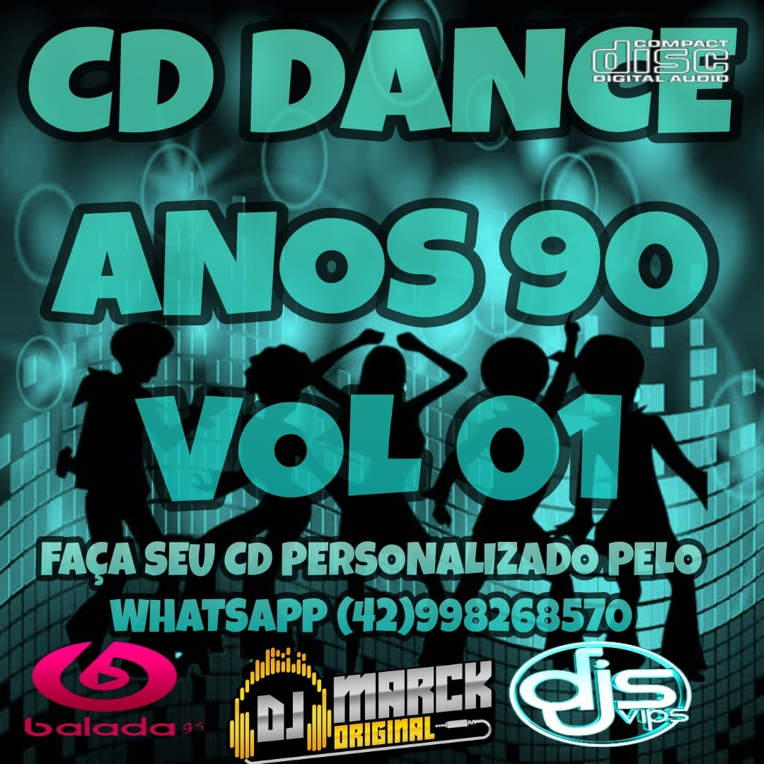 CD Dance Anos 90 Vol 01-Dj Marck Original