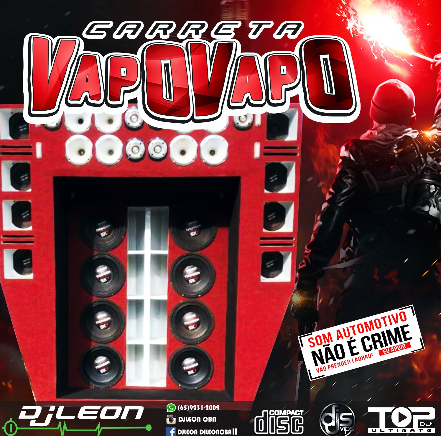 CD CARRETA VAPO VAPO VOL.02-Dj Leon Cba